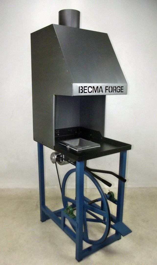 Blacksmith Forge Hoods ~ Becma blacksmith s foot treadle forge with chimney hood
